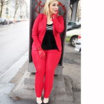 Plus size Look: Ms Mode Red suits megabambi