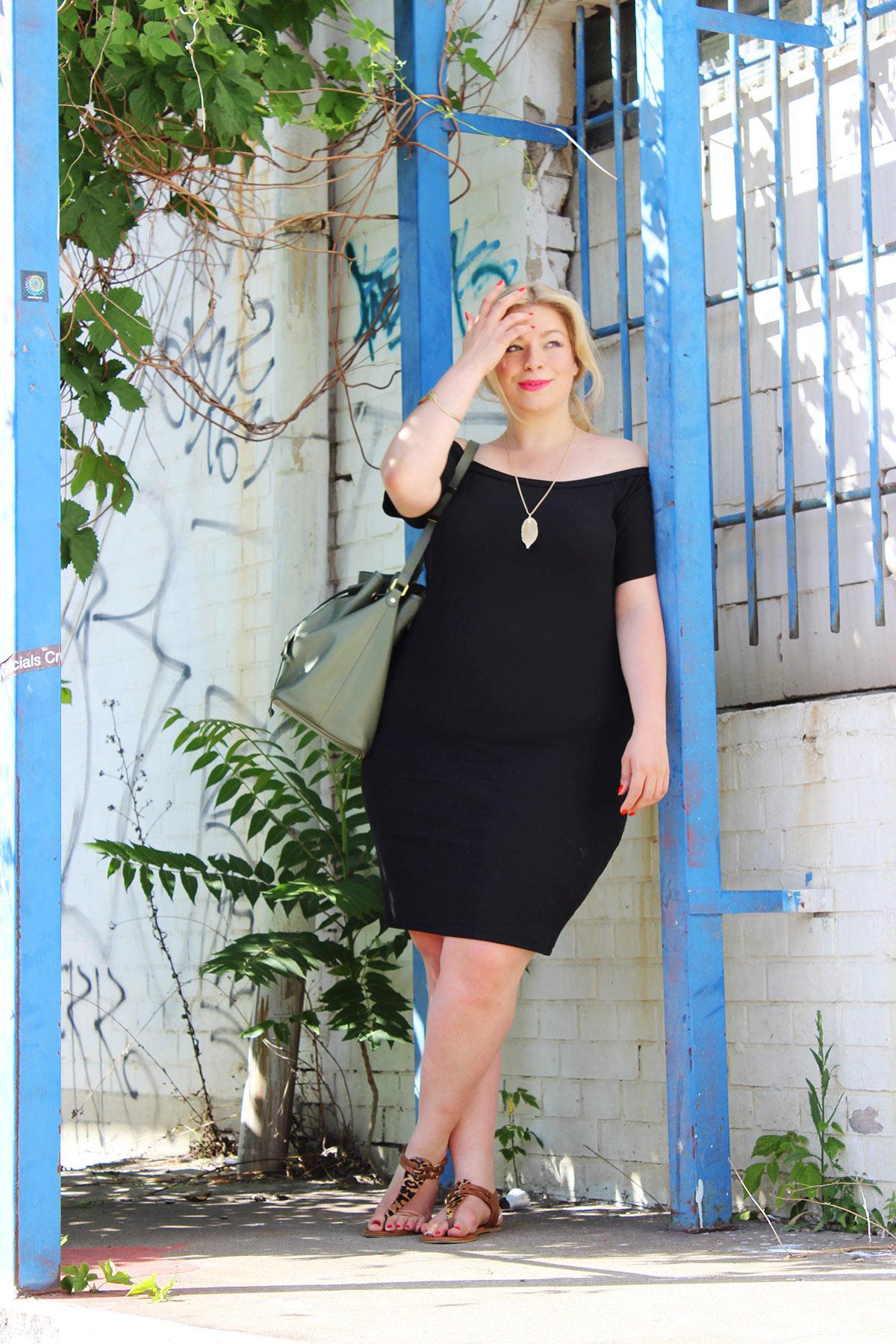Schwarzes Kleid Plus Size Megabambi Junarose