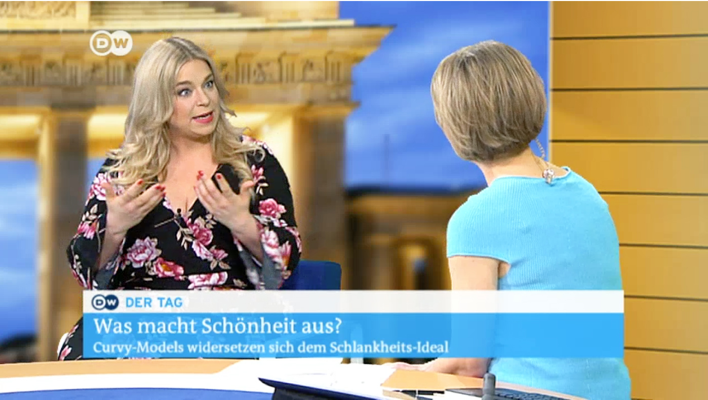 Caterrina-deutsche-welle-pogorzelski-Plus Size-Mode- Caterina-Pogorzelski /TV-Interview
